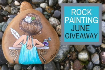 Painted Rock Gardenia Girl Giveaway
