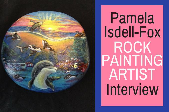 Pamela Isdell Fox Rock Painting Artist Interview Rock Painting Ideas