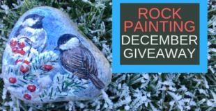 Winter Birds Painted Rock Giveaway