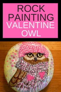 Valentine Owl Painted Rock
