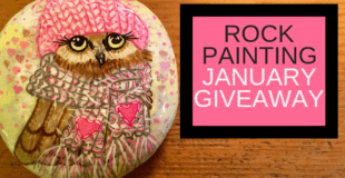 Valentine Owl Painted Rock Giveaway