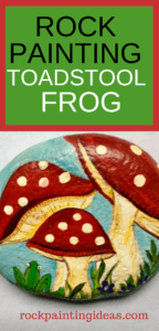 Painted Stone Toadstool Frog