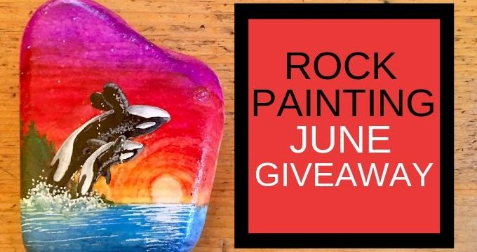 Sunset Orcas Rock Painting Giveaway
