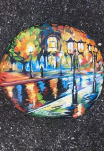Street Lights Rock Painting Giveaway